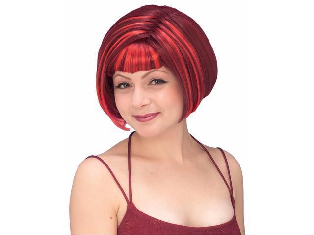 Devil Diva Red Adult Costume Wig
