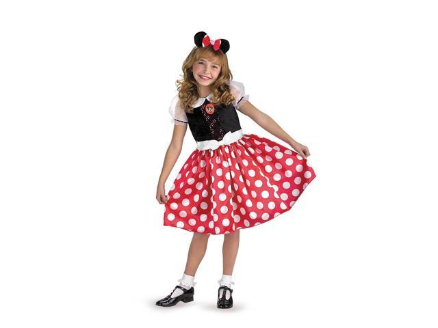 Mickey Mouse Clubhouse Disney Classic Minnie Child Toddler Costume 4-6X