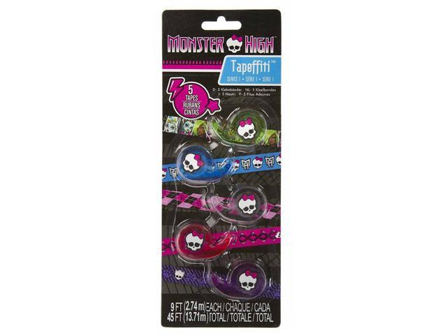 Monster High Tapeffiti Decorative Tape 5-Roll Pack