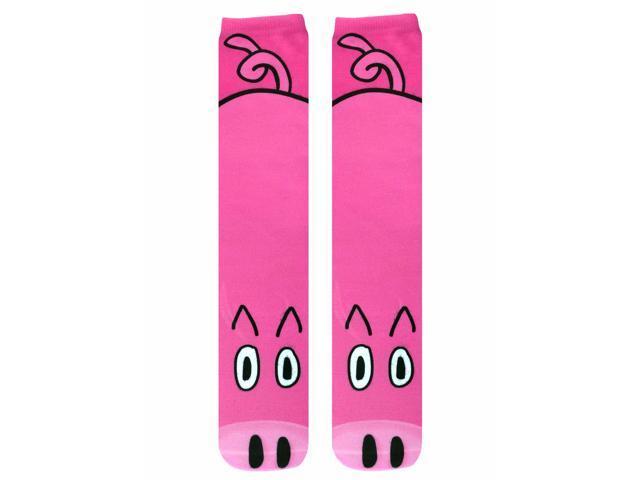 Pig Photo Print Knee High Socks