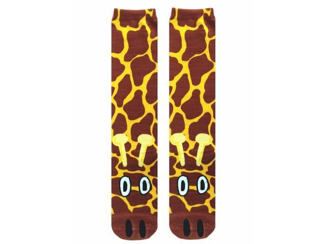 Giraffe Photo Print Knee High Socks
