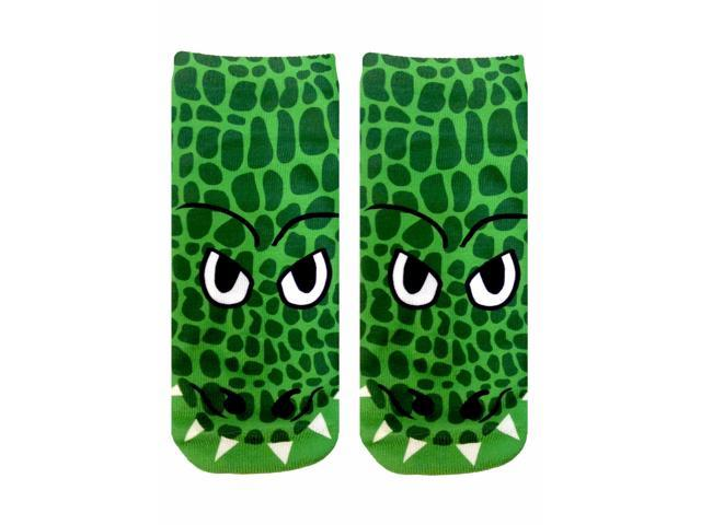Crocodile Photo Print Ankle Socks