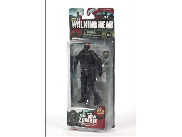 The Walking Dead TV Series 4 Action Figure Riot Gear Gas Mask Zombie