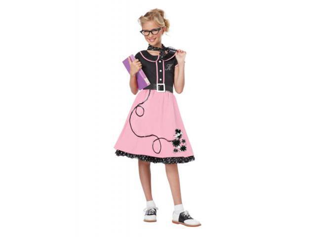 50'S Sweetheart Child Costume Large