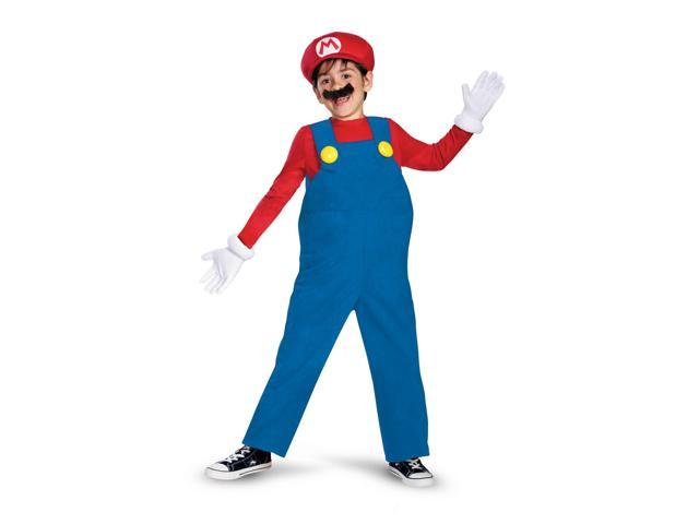 Super Mario Bros Deluxe Mario Costume Child Medium (7-8)