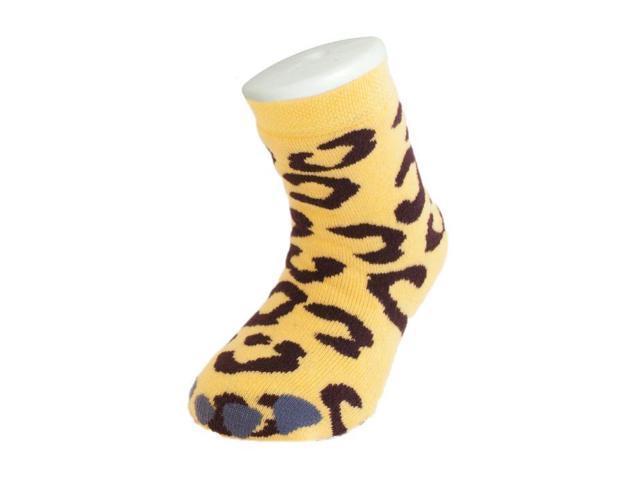 Kids Wild Slipper Socks: Leopard