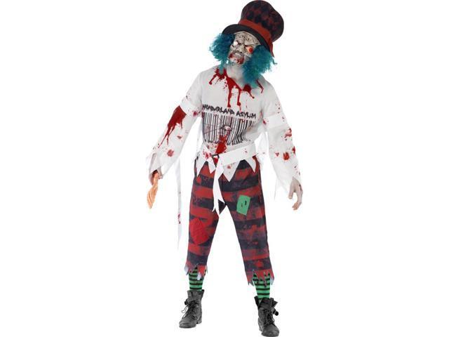 Zombie Wonderland Mad Hatter Adult Costume Medium