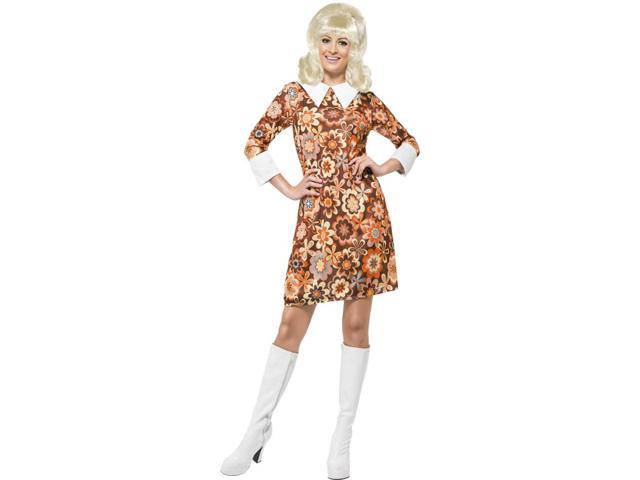 60's 70's Carnaby Cutie Adult Costume Large