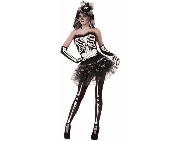 Skeleton Bones Adult Costume Tutu One Size
