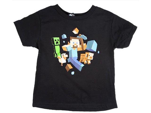 Minecraft Run Away! Youth T-Shirt Medium