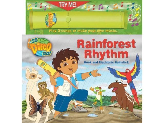 Nick Jr Go Diego Go Rainforest Rhythm Book & Rainstick