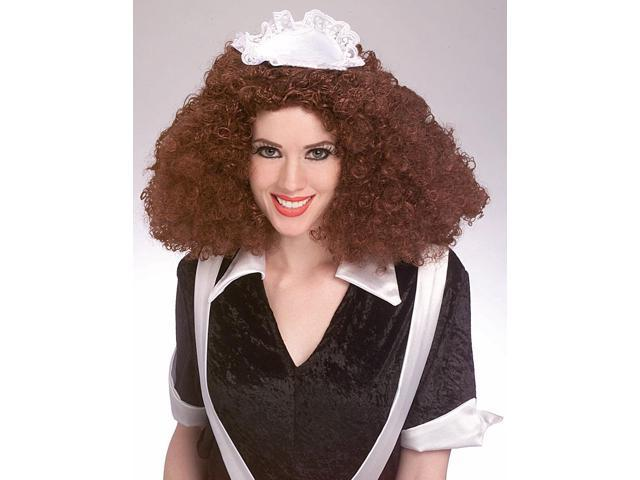 Rocky Horror Brown Magenta Adult Costume Wig