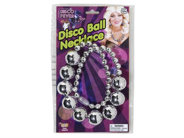 Disco Ball Costume Jewelry Necklace