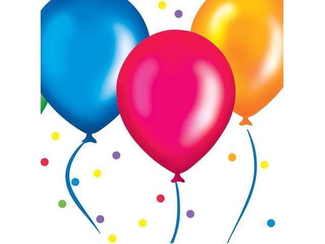 18 Count Beverage Napkins Birthday Balloons