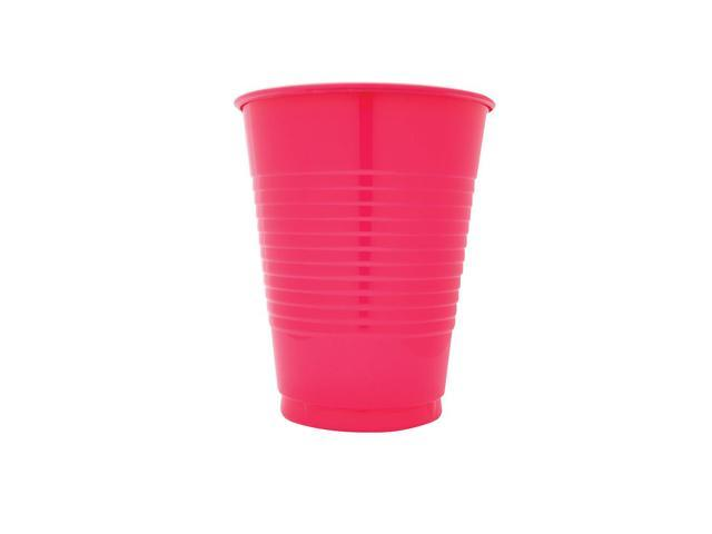 Touch Of Color 20 Count 16oz Plastic Cups Hot Magenta