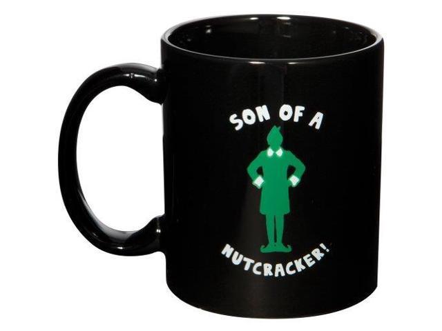 Elf The Movie Son Of A Nutcracker Black Ceramic Mug