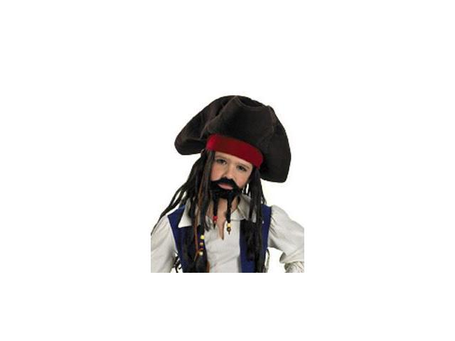 Pirates Of The Caribbean Deluxe Hat, Moustache, & Goatee - Child