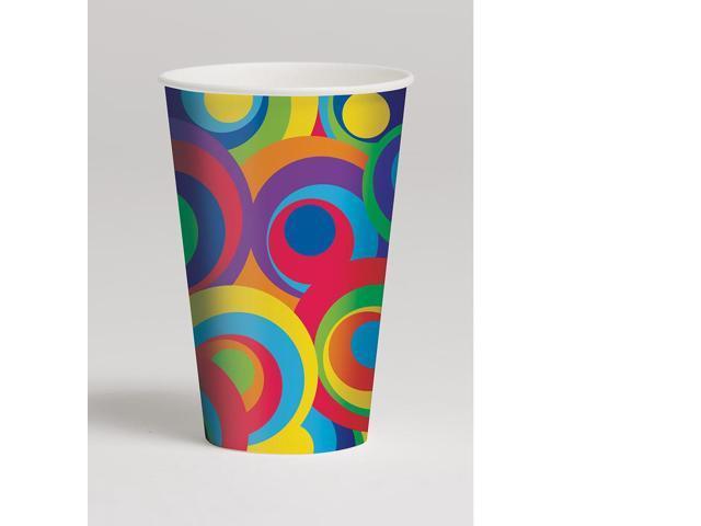 8 Pack 12Oz Cups Mod Circles