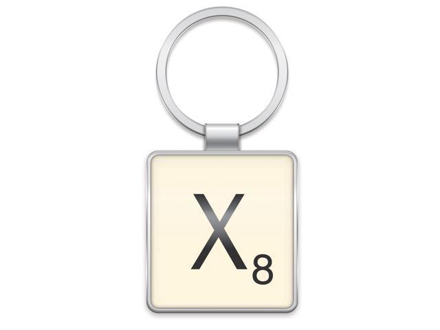 Scrabble Letter Tile Key Ring: Letter X