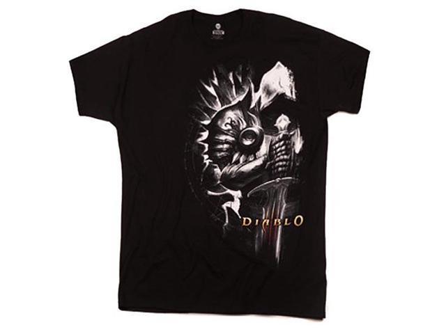 Diablo III Tyrael Side View T-Shirt Black Small