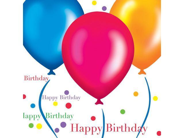 16 Pack Luncheon Napkins Birthday Balloons