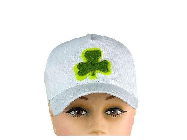 St Patrick's Day White Baseball Shamrock Hat