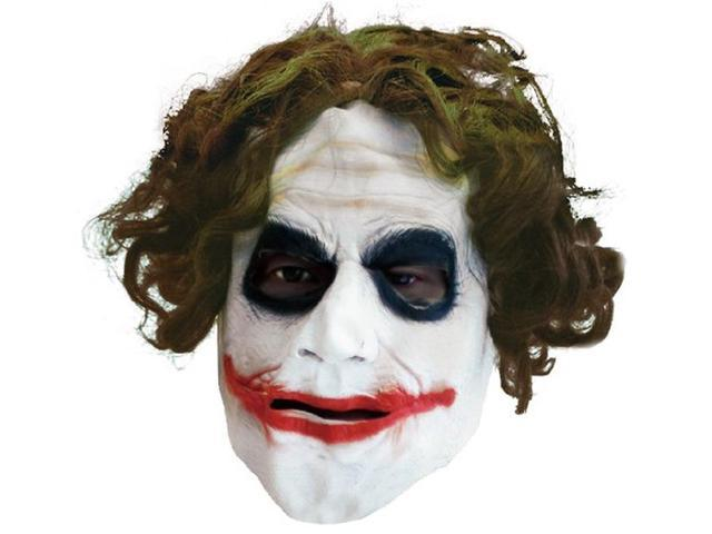 Batman Dark Knight The Joker 3/4 Adult Mask With Hair