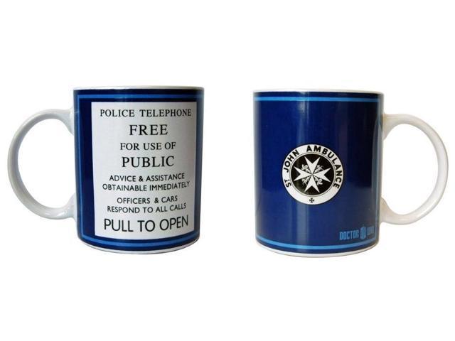 Doctor Who Tardis Police Telephone Ceramic Coffee Mug