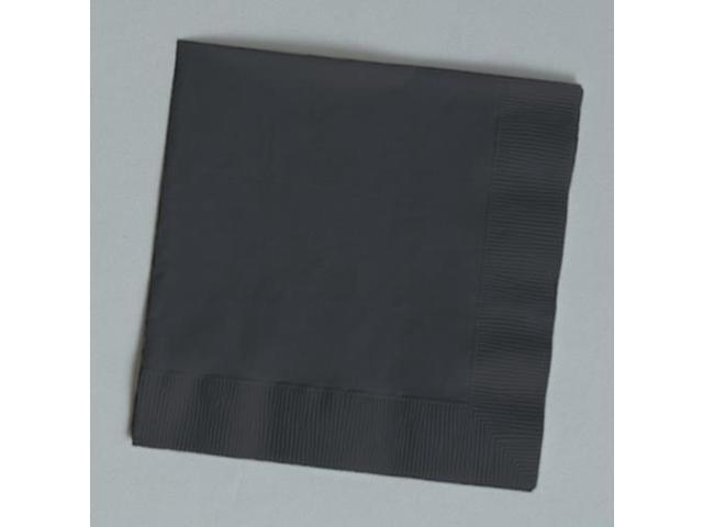 Touch of Color 150 Count Luncheon Napkins Black Velvet