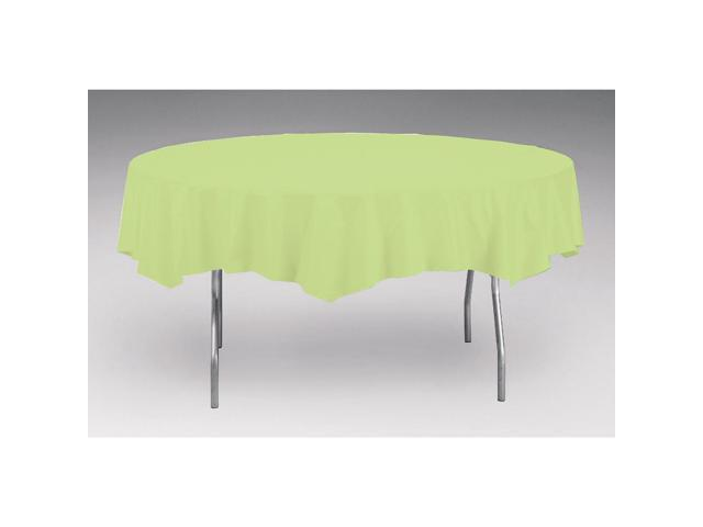 Touch Of Color Octy-Round Round Plastic Table Cover Pistachio