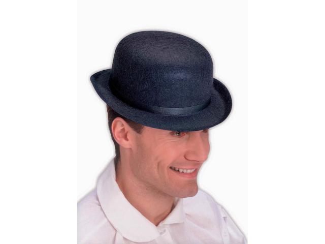 Black Felt Derby Costume Hat Standard
