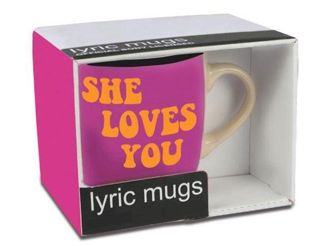 The Beatles Lyric Mug She Loves You Yeah Yeah Yeah
