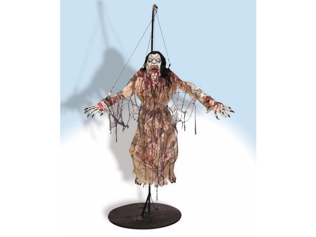 6' Tall Scary Flying Vampiress Halloween Prop