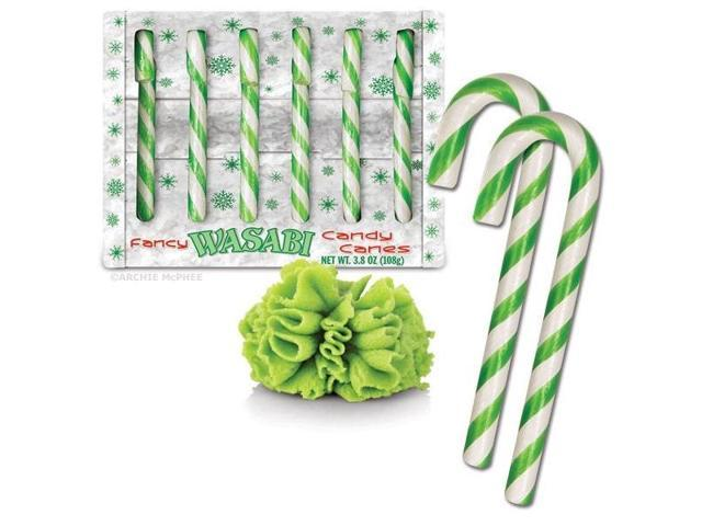 Wasabi Flavored Candy Canes Box Of 6