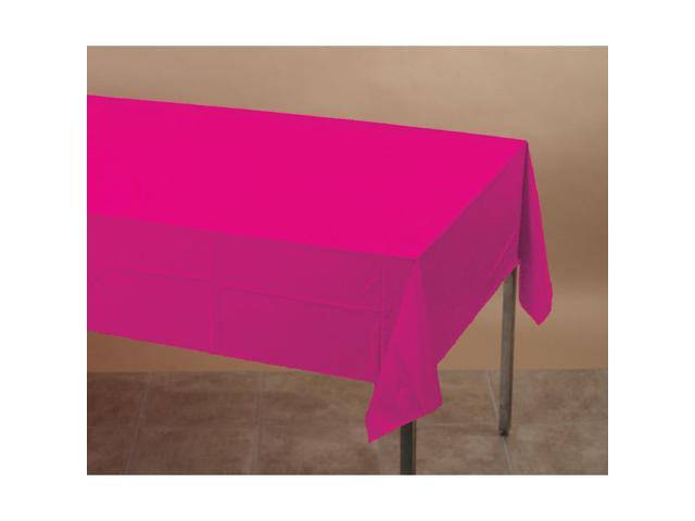 Touch Of Color Plastic-Lined Table Cover 54x108 Hot Magenta