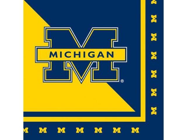 20 Pack Luncheon Napkins Michigan Wolverines