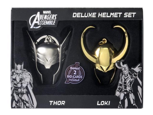 Loki Gold & Thor Pewter Helmet Set Limited Edition