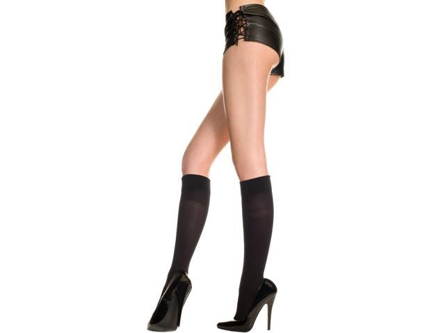 Opaque Knee Hi Nylon Costume Stocking Hosiery One Size