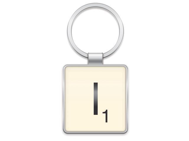 Scrabble Letter Tile Key Ring: Letter I