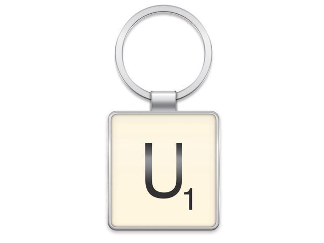 Scrabble Letter Tile Key Ring: Letter U