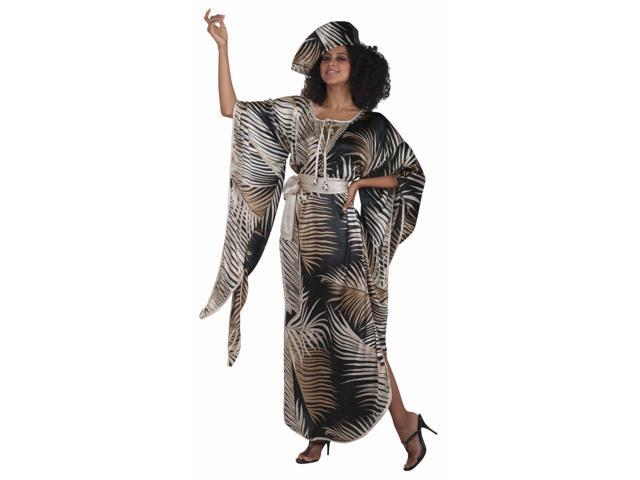 African Queen Costume Dress w/Hat & Belt Adult Standard