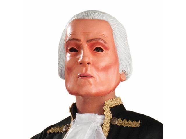 President George Washington Latex Face Costume Mask Adult One Size
