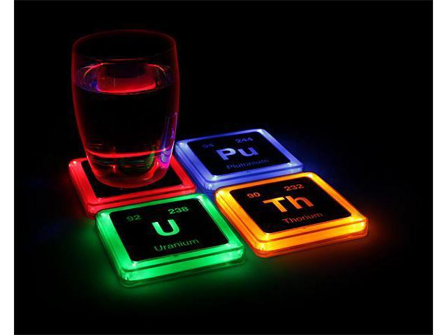 Radioactive elements glowing coaster set - Radioactive coasters ...