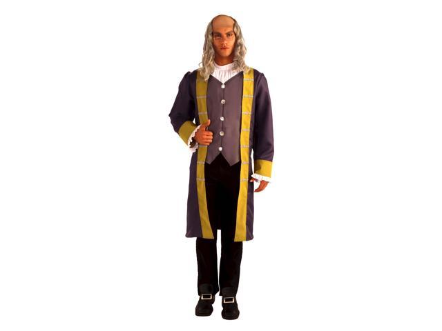 Ben Franklin Costume Jacket w/Attached Vest & Jabot Adult Stnd