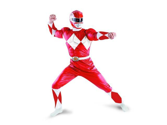 Power Rangers Red Ranger Deluxe Adult Costume w/ Helmet X-Large 42-46