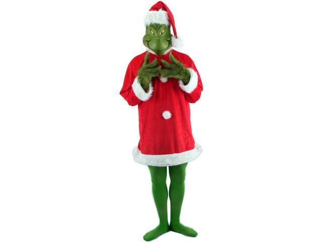 Dr. Seuss Santa Grinch & Mask Costume Adult XX-Large