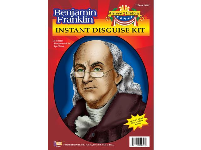 Benjamin Franklin Wig & Glasses Disguise Adult Costume Kit