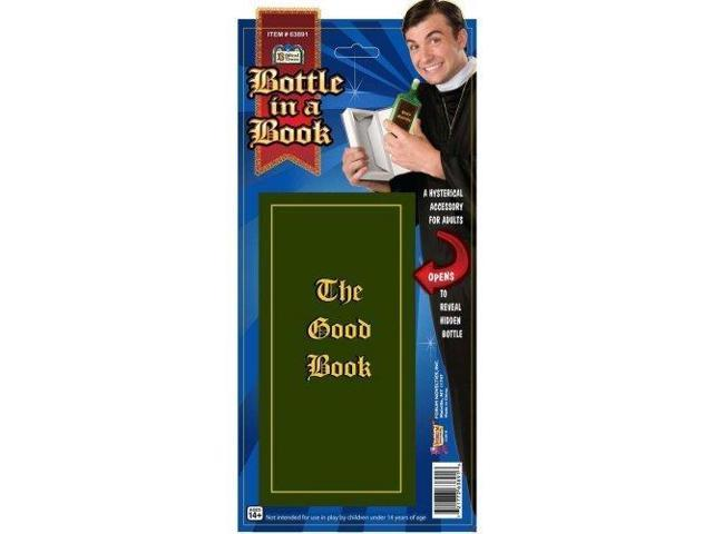 Priest Bible The Good Book Liquor Bottle Costume Accessory