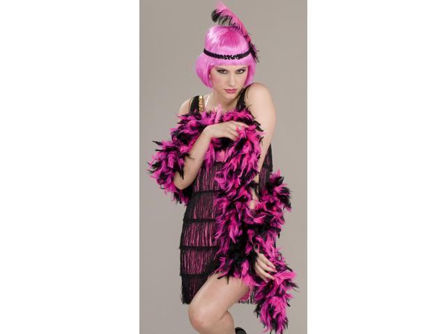 Pink & Black Flapper Roaring 20's Adult Costume Boa