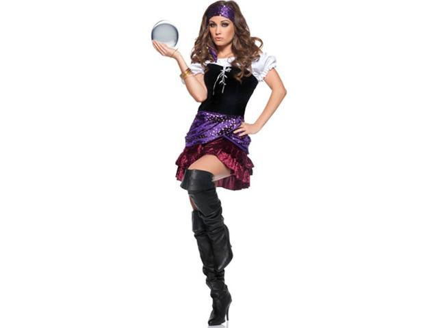 Miss Fortune Teller Circus Girl Mini Dress Costume Adult Small